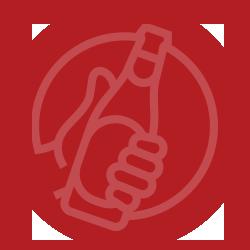 icon Alcoholische dranken bevatten allemaal dezelfde hoeveelheid alcohol.